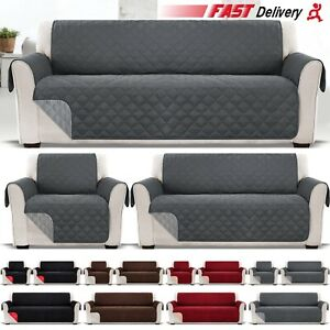 1 2 3 Seater Sofa Covers Quilted Throw Washable Anti Slipcover Protector Couch