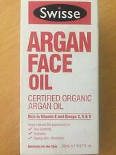 New SWISSE Argan Face Oil Certified Organic 20ml Bottle shop soiled  FREE POST