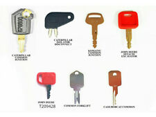 7 Heavy Equipment Key For Caterpillar John Deere Hitachi Hyster Komatsu Bobcat