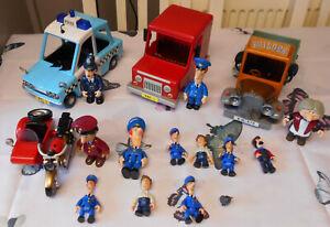 Postman Pat Bundle - Ted Glenn's Truck, Police Car, Motor Bike, Van + Figures
