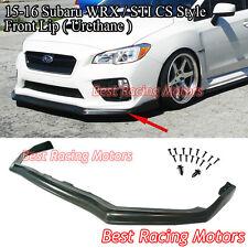 CS Style Front Bumper Lip (Urethane) Fits 15-17 Subaru WRX STi