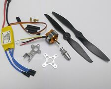018K:1 set BL Motor(H23xD28mm), 2 Props and 30A ESC Kit for RC AirPlane FW:450g