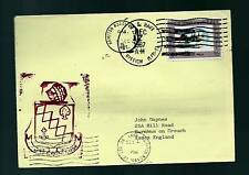 """KUWAIT PAQUEBOT COVER KUWAIT STAMP CANCELLED ON USS NAVY """"RALEIGH"""" SHIP"""