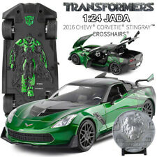 JADA 1/24 Diecast Transformers 5 Chevrolet Corvette Crosshairs Chevy Green Model