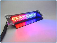 1W 8-LED RED/BLUE POLICE STYLE STROBE LIGHT FOR ALL CARS 12V