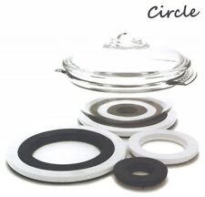 Zak Designs Circle set of 4 Melamine Cooks Trivets Pan Pot Teapot Serving Stands