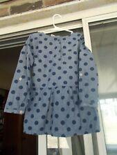 Carter's Size 6 Light Blue With Navy Blue Polka Dots Girl's Dress Long Sleeve