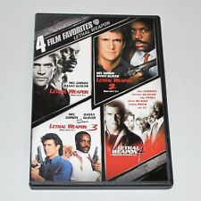 4 Film Favorites DVD Lethal Weapon 1 2 3 4 Mel Gibson Unrated Director's Cuts