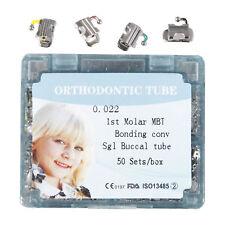 50 Kits Dental Orthodontic Buccal Tube MBT. 022 1st Molar Bondable Convertible