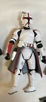 Star Wars The Clone Wars - Trooper Captain Fordo Figure  With Gun Incomplete