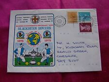 Blackburn Rovers Postal Cover Century of Soccer 1875 - 1975, Stamps, Envelope