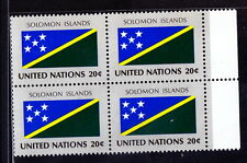 United Nations MNH Blk, Flags, Solomon Islands