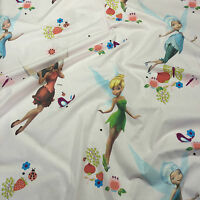 Tink Tinkerbell 100/% cotton fabric 44 inch// 110cm peterpan pink fairy magic
