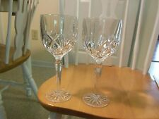 SET of 2  WATERFORD CRYSTAL MARQUIS WATER GOBLETS GLASSES BROOKSIDE NEW NO BOX