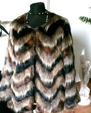"Schicke Designer Webpelzjacke ""42 SARAH KERN ""Designer  Fake Fur Jacket....nice"