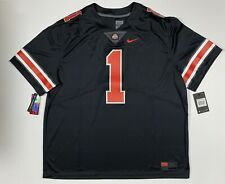 Ohio State Buckeyes Justin Fields Red 1 Men Limited Jersey Black Stitched 3Xl