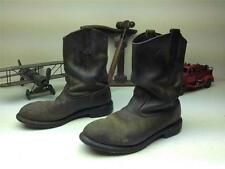 BROWN RED WING 2259 STEEL TOE PECOS USA DISTRESSED ENGINEER OIL BOOTS 9.5 EE
