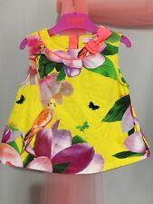 Beautiful Girls Designer Ted Baker Yellow Floral Summer Top 3-4yrs💛
