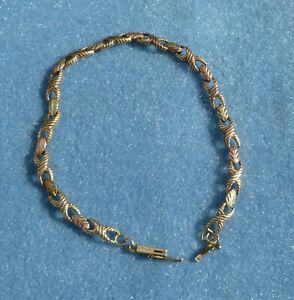 14K Multi Color Gold Bracelet 7-5/8 Inch