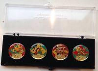 Goofy Pluto Mickey Minnie Mouse Disney Kodak Pin Badge Set Eurodisney Collection