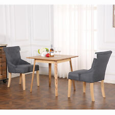 Set of 2 Deluxe Fabric Scoop Back Dining Chairs Lounge Office Bedroom Reception