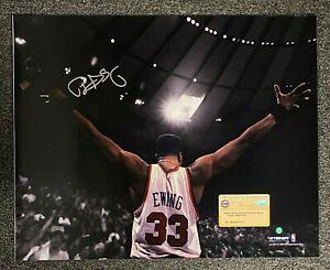 Patrick Ewing Signed 16x20 Photo Autographed AUTO STEINER COA New York Knicks