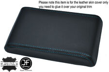 BLUE STITCHING ARMREST LID LEATHER COVER FITS HOLDEN COMMODORE VL