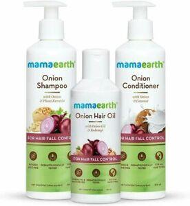 Mamaearth Onion Hair Oil(150ml) + Onion Shampoo (250ml)+ Onion Conditioner 250ml