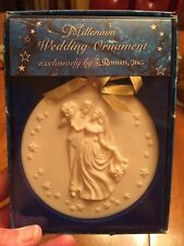 Millenium Wedding Ornament by Roman, Inc.- Nib