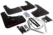 Rally Armor Mud Flaps Guards for 14-15 Fiesta ST Hatch (Black w/Red Logo)