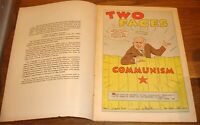 TWO FACES OF COMMUNISM VF+ 1961 GIVEAWAY PROMO CHRISTIAN ANTICOMMUNISM