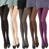 EP_ Women Pure Color 120D Opaque Footed Tights Pantyhose Stockings Socks Marketa