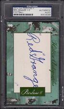 2014 Red Grange Historic Autograph Peerless II Football Auto /3 Graded PSA/DNA