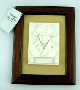 A Giannelli Signed Alabaster Framed Wall Plaque - Napoleon - Made in Italy COA
