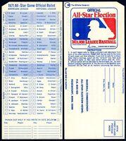 1971 RARE MLB ALL-STAR BASEBALL GAME UNUSED FAN BALLOT at DETROIT TIGERS STADIUM