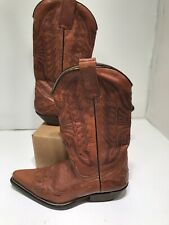 Vintage Vero Cuoio Leather Cowboy Boots, Brown Size 39 Made In Italy