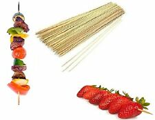 Wooden Bamboo BBQ Skewers Sticks Barbecue Kebab Chocolate Fountain Pack of 200