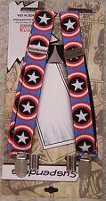 """Suspenders Children & Junior 1""""x36"""" FULLY Elastic Captain America NEW Made USA"""