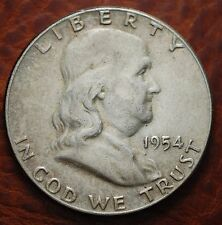 1954   USA   Half dollar   Franklin   spl