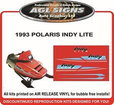 1993 POLARIS INDY LITE  HOOD DECALS  Reproductions Graphics