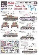 Star Decals 1/35 T-34 TANKS & KV-1 TANKS OF THE LENINGRAD FRONT