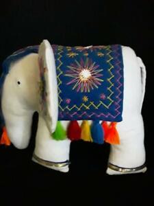 Handmade Cotton Stuffed Decorated Elephant kids toy