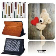 Signo de madera cubierta de cuero con soporte casos para Amazon Kindle 8/10th Paperwhite 1/2/3/4