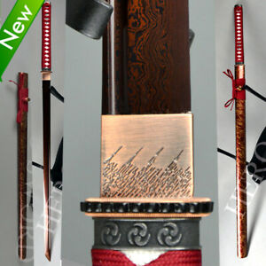Handmade Japanese samurai sword Damascus Folded Steel Katana Ninja Blade Sharp