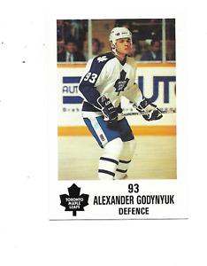 1991-92 Maple Leafs PLAY #15 Alexander Godynyuk Toronto Maple Leafs