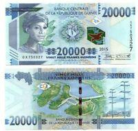 GUINEA 20000 Francs (2015) P-50a UNC Banknote Paper Money