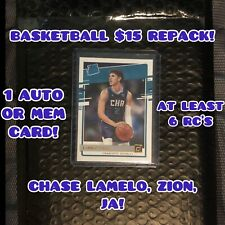 NBA BASKETBALL $15 Repack! GUARANTEED AUTO OR MEM CARD! CHASE LAMELO, ZION, JA!