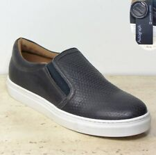 M&S AUTOGRAPH Real LEATHER Slip-On TRAINERS / CASUAL Shoes ~ Size 6 ~ GREY
