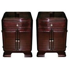 Art Deco Nightstands, Rosewood  #6112