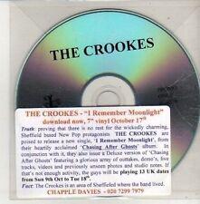 (CU386) The Crookes, I Remember Moonlight - DJ CD